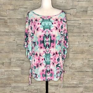 Style & Co. floral butterfly top